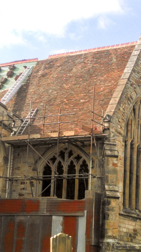 Tenterden Roofing - St Dunstan's Church tiling in progress