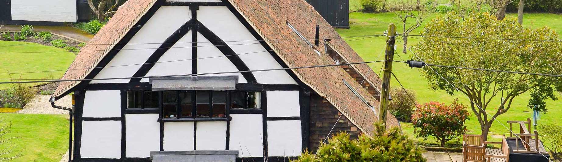 Tenterden Roofing - White Tudor House
